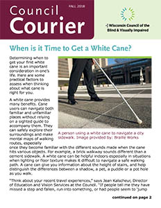 Cover of Fall 2018 Council Courier