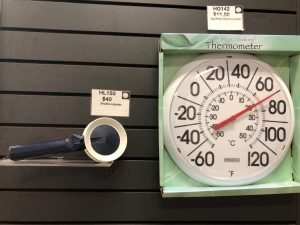 Braille Labeler and Big Bold Thermometer