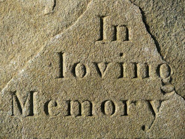 In loving memory carved in stone