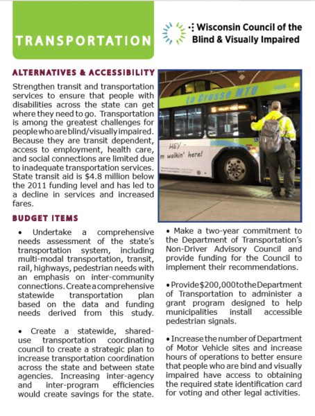 Legislative Report Transportation
