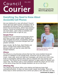 Front page layout of Courier