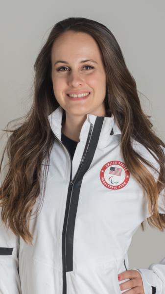 Mia Zutter in her ski team jacket