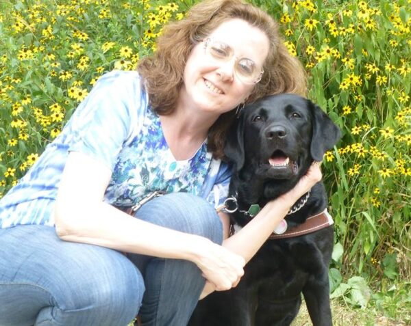 Patty Zaller with her service dog