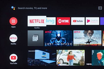 An example of a smart television featuring streaming services.