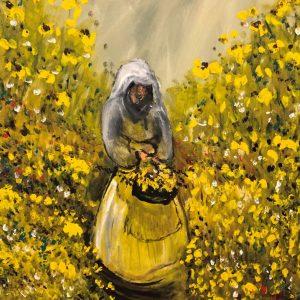 Photo of Flower Girl oil painting