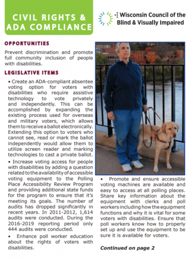 Legislative Report Civil Rights