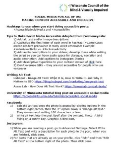 Thumbnail of the Social Media Handout