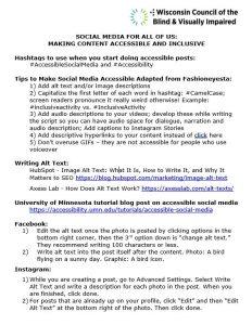 Thumbnail of the Social Media Handout