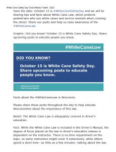 A thumbnail of White Cane Day Social Media Toolkit