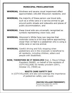 White Cane Safety Day Proclamation Template Preview